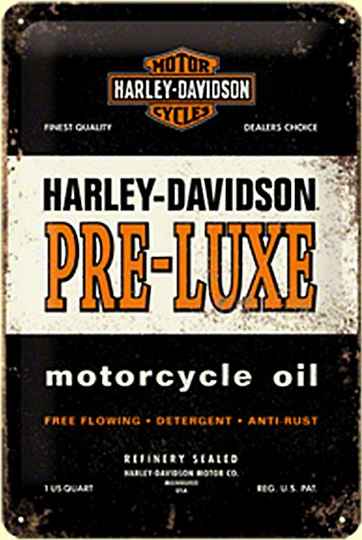 Harley Davidson Pre-Luxe embossed steel sign  (na2030)