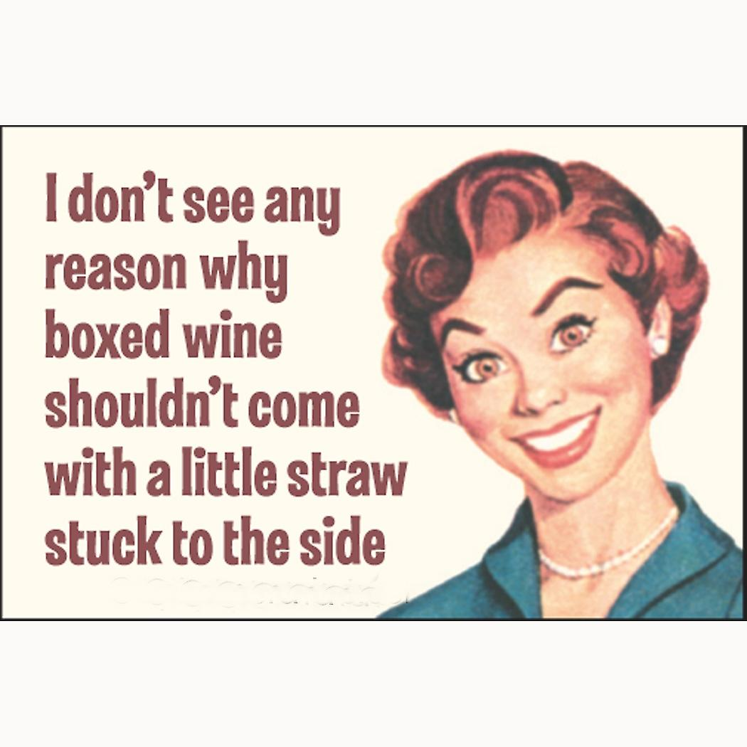 I Don't See Any Reason Why Boxed Wine.. fridge magnet     (ep)