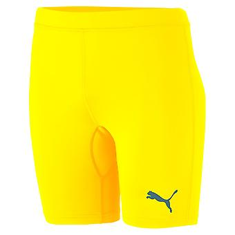 PUMA League baselayer tight Jr children running pant leggings Cyber yellow