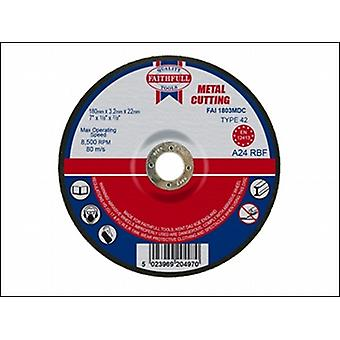 CUT OFF DISC FOR METAL DEPRESSED CENTRE 180 X 3.2 X 22MM