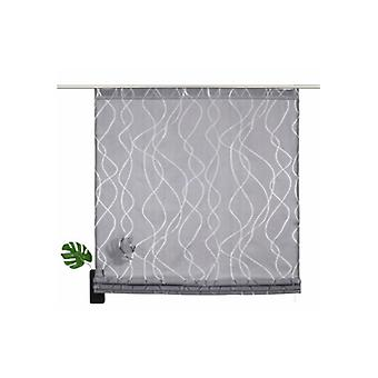 my home Roman shade refined window roller blind with waves look grey