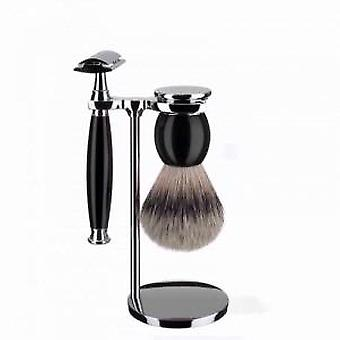 Muhle Sophist Safety Razor and Silvertip Brush Set