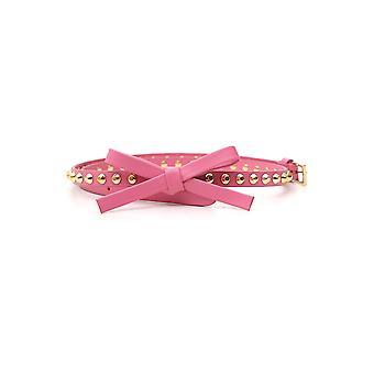 Correa de cuero rosa de Prada