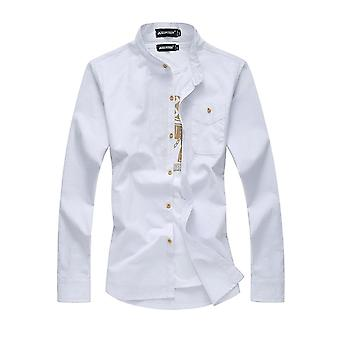 Allthemen heren shirt met lange mouwen linnen Solid Four Seasons shirt