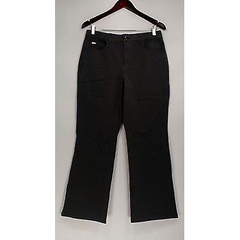 H di Halston Women's Petite Jeans Studio Stretch 5 Pocket Gray A280415