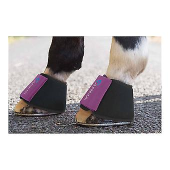 Shires Arma Neoprene Over Reach Boots - Plum