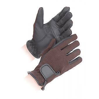 Shires Sapey Adults Competition Gloves - Brown