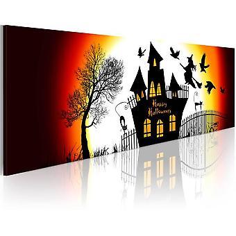 Artgeist Leinwanddruck Schwarz Halloween (Dekoration , Gemälde & Bilder , Leinwände)