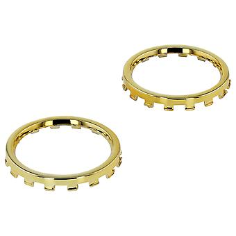 Chrome analog thumbstick rings for xbox one elite controller trim 2 pack   / gold