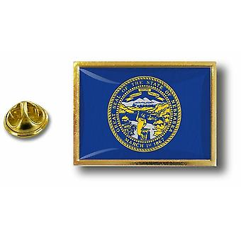 Pins Pin Badge Pin's Metal  Avec Pince Papillon Drapeau Etats USA Nebraska