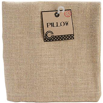 Burlap Pillow Square 18