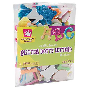 Foam Glitter Stickers 2.25 Ounces Dotty Letters 76406E