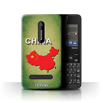 STUFF4 Case/Cover für Nokia Asha 210/China/Chinesisch/Flagge Nations