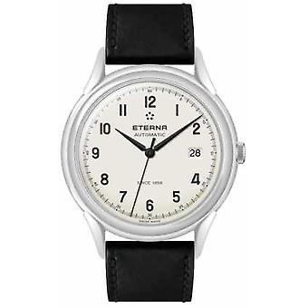 Eterna Mens Heritage 1948 Automatic Black Leather Strap 2955.41.94.1388 Watch