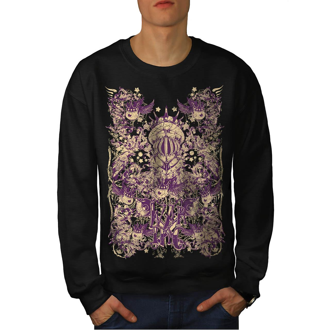 War Inc. Zombie Fashion Monster Fight Men Black Sweatshirt | Wellcoda