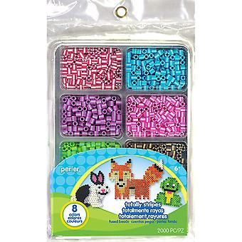 Perler Fused Bead Tray 2,000/Pkg-Totally Stripes 80-17597