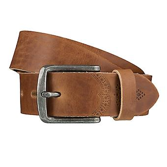 LLOYD Men's belt belts men's belts leather belts, beige 4026