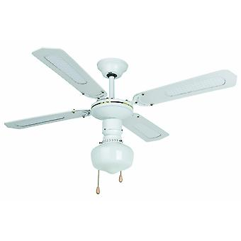 Faro ceiling fan Aruba White with lighting and pull cord 106 cm / 42""