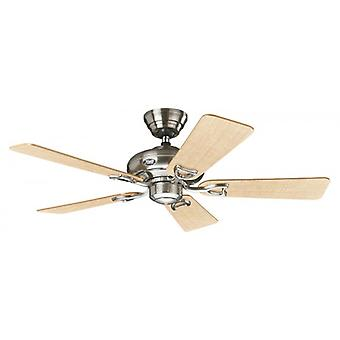"Ceiling Fan Seville II 112 cm / 44"" brushed chrome"