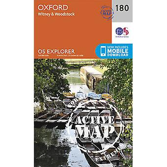 Oxford Witney and Woodstock by Ordnance Survey