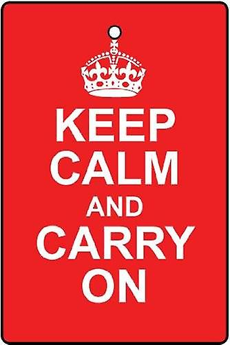 Keep Calm And Carry On Car Air Freshener