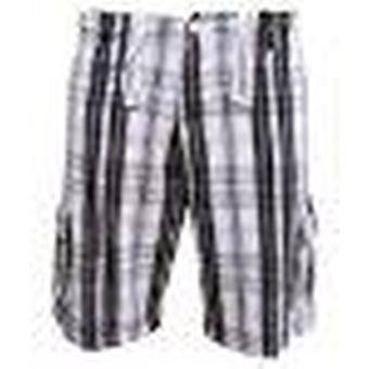 Soul Star Men's Twill 311 Distressed Casual Check Shorts