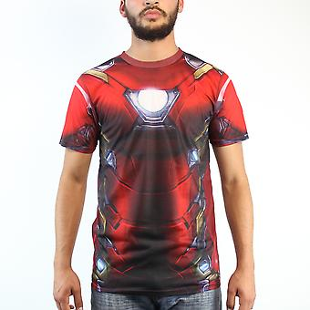 Marvel Iron Man Costume Civil War sublimée rouge T-shirt homme