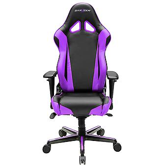 DX Racer DXRacer OH/RV001/NV High-Back Racing Style Office Chair Carbon Look Vinyl+PU(Black/Violet)
