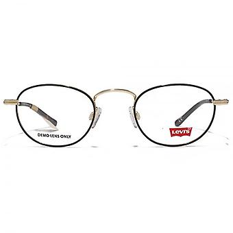 Levis Metal Round Glasses In Gold