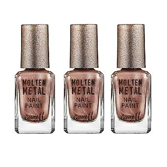 Barry M X 3 Barry M smeltet metall - rosa is