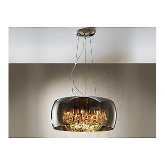 Schuller Argos Smoked Drum Ceiling Pendant Light