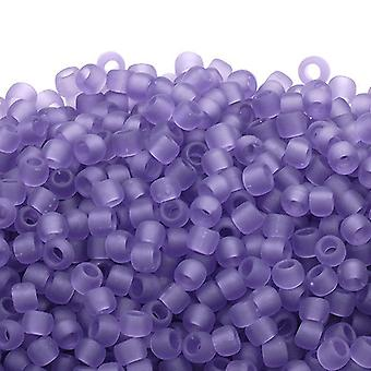 Toho Toho Seed Beads 6/0 - Transparent Frosted Sugar Plum - 10g