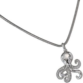 Trailer Octopus 925 sterling silver rhodium plated with cubic zirconia Octopus
