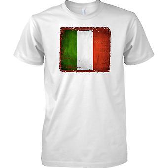 Italien Grunge Grunge Effekt Flag - Tricolore - Kinder T Shirt