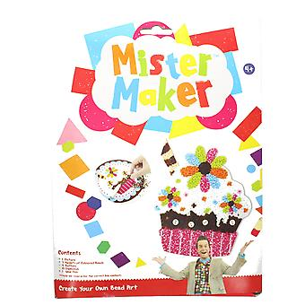 Mister Maker Cupcake Strawberry Bead Art with Picture, Beads & Glue Pen