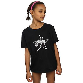 Looney Tunes Girls Sylvester Mono Star T-Shirt