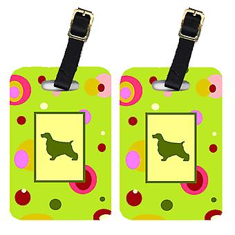Carolines Treasures  CK1026BT Pair of 2 Cocker Spaniel Luggage Tags
