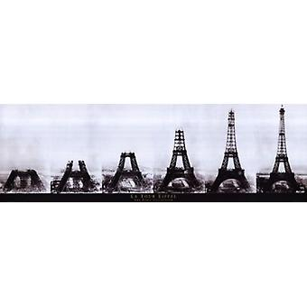 Paris Eiffeltower Construction - Slim Print Poster Poster Print