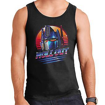 Transformers Optimus Prime Roll Out Men's Vest