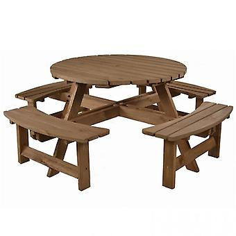 BrackenStyle York 8 Seat Round Picnic Table