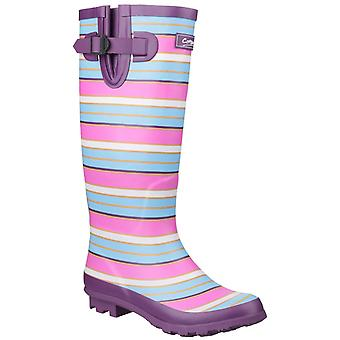 Cotswold Womens/Ladies Wadeberry Striped Wellington Boots