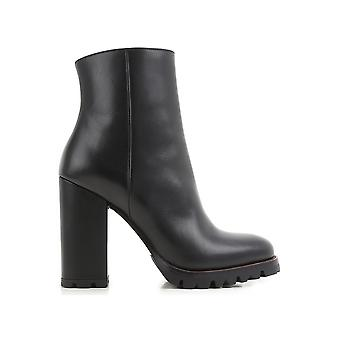 Prada women's 1T137H3F33002 black leather ankle boots