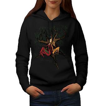 Creatura Fantasy Mystic donne BlackHoodie | Wellcoda