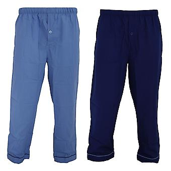 Walter Grange Mens Traditional Pyjama Bottoms Twin Pack