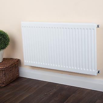 Round Top Radiator - Single Panel Type 10 - White H300 x W600mm
