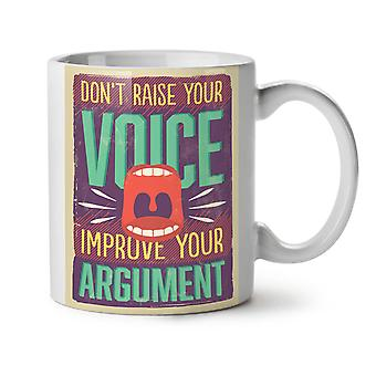 Improve Argument NEW White Tea Coffee Ceramic Mug 11 oz | Wellcoda