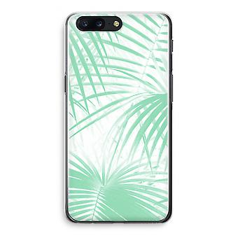 OnePlus 5 Transparant Case - Palm leaves