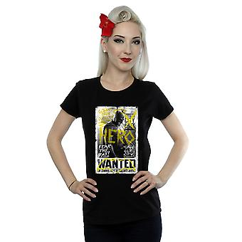 DC Comics Women's Batman v Superman Wanted Poster T-Shirt