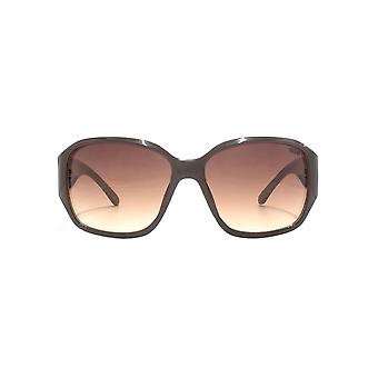 SUUNA Lisa Glam Square Sunglasses In Brown On Beige