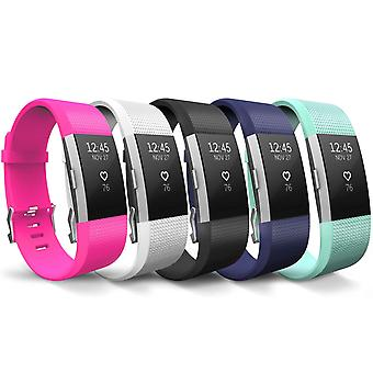 Fitbit Charge 2 Strap 5-Pack - klein